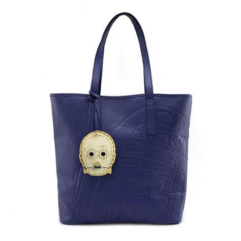 Open Po Tote Bag Pouch 3 Ruang wars r2 d2 with c 3po charm debossed faux leather tote bag thinkgeek