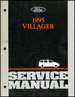1995 mercury villager repair shop manual original