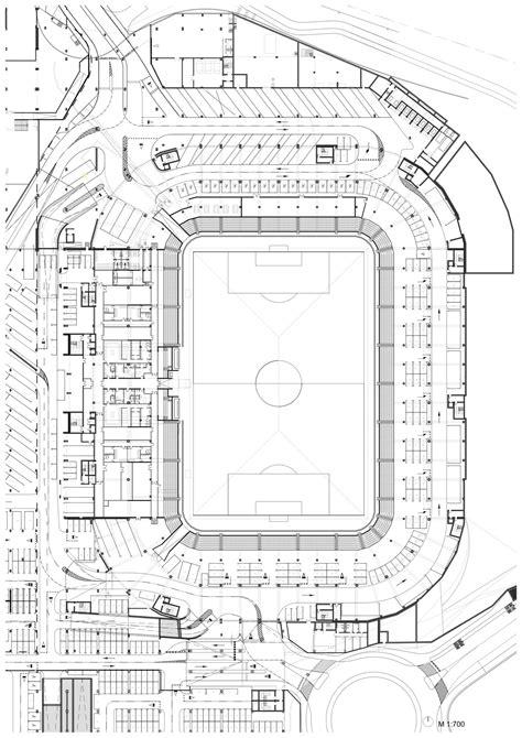 football stadium floor plan gallery of football stadium of sports park stožice sadar