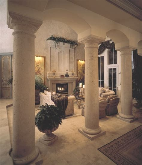 interior house columns decorating with columns pillars realm of design inc
