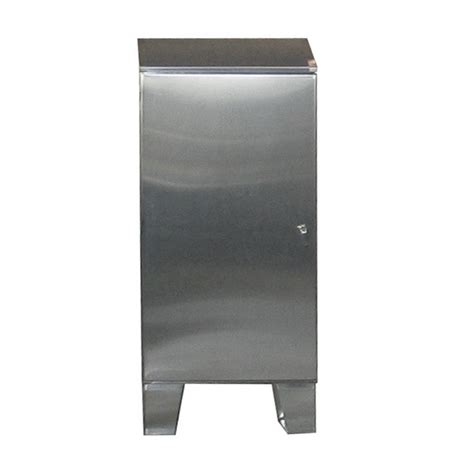 cabinet with stainless steel top stainless steel cabinet floor mount single door w sloped