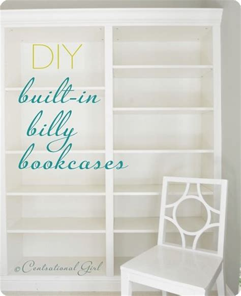 Built In Billy Bookcases Diy Built In Ikea Billy Bookcases Ideas I M Going To Try