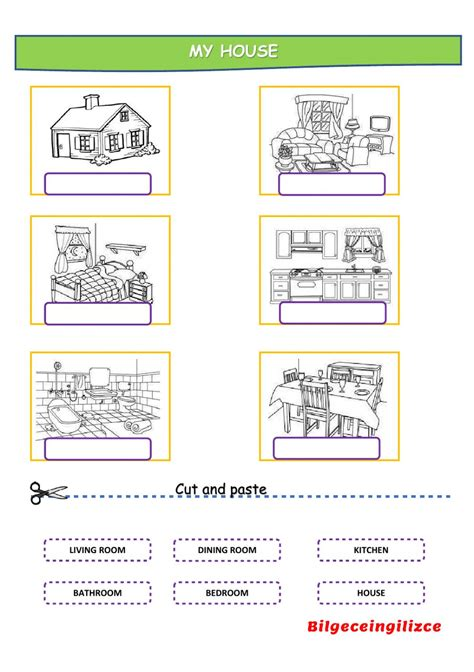 parts house printable exercises parts of the house worksheets the best and most