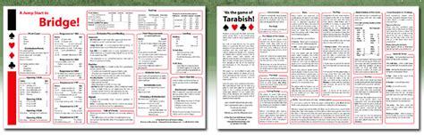 printable bridge instructions tanya s tarabish and bridge instructions