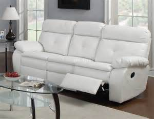 Settee Dimensions G577a Reclining Sofa Amp Loveseat In White Bonded Leather By