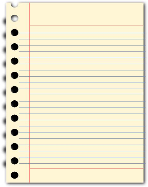 free notepad template notepad clip at clker vector clip