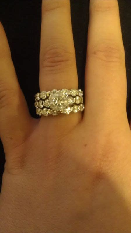 which do you like better bands with engagement ring