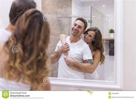 couples in bathroom couple in bathroom stock photo image 48708368