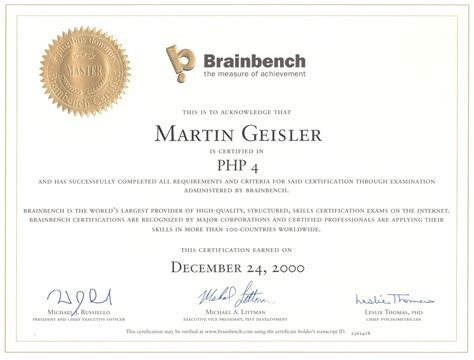 brain bench certification martin geisler online 187 blog archive 187 brainbench certificate