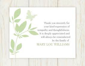 butterfly funeral thank you card digital file sympathy