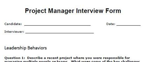 job interview questions and answers for project managers the 5