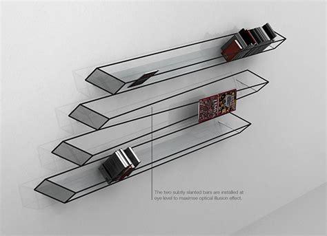 optical illusion bookshelf the awesomer