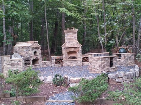 Outdoor Stacked Fireplace Built In Green Egg 17 Best Images About All Things Big Green Egg On