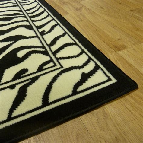 zebra print runner rug black ivory zebra style rug carpet runners uk