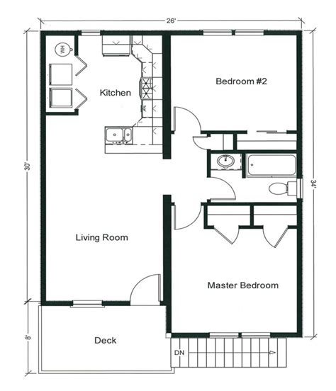 rental property floor plans 2 bedroom bungalow floor plan plan and two