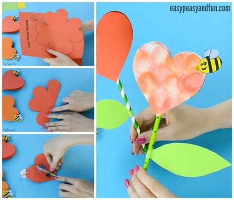 Floral Craft Paper - paper flower craft with template easy peasy and