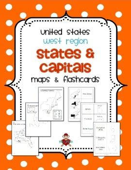western region of the united states map us west region states capitals maps by mrslefave tpt