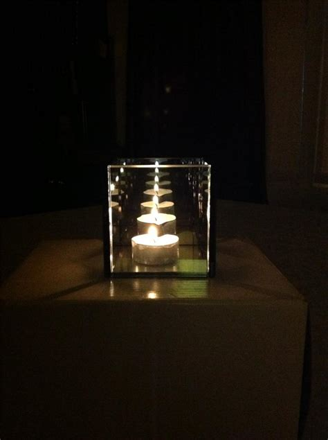 infinity glass infinity glass tealight candle holder reflective tea light