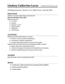 Resume Builder For Teens by High Student Resume Template Images