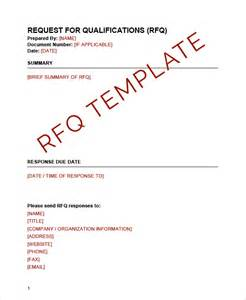 rfq templates request for qualifications rfq template