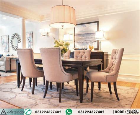 Meja Makan Elegan model set meja makan elegan 6 kursi desain klasik minimalis arts indo furniture jepara