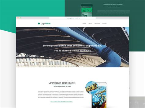 product landing page templates psd website templates part 6 mooxidesign