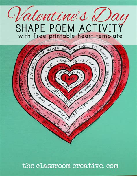 poetry activity for valentine s day with free printable