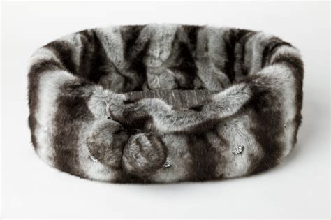 fur dog bed pasha grey faux fur pet bed aristopaws
