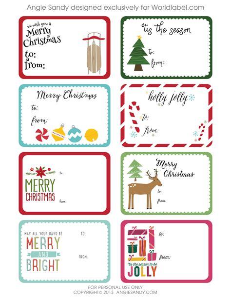 printable rectangular gift tags world label exclusive christmas gift tag printable angie