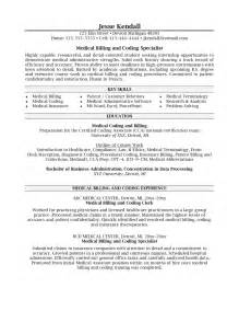 Billing Specialist Resume by Doc 9271200 Resume Exles Coder Resume Billing And Coding Bizdoska
