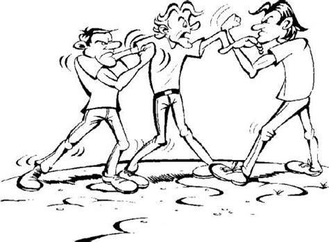 dibujos de nios peleando para colorear como dibujar personas peleando imagui