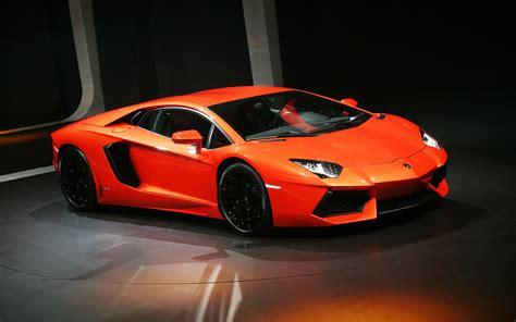 Lamborghini Aventador In Orange Orange Lamborghini Aventador Wallpaper Pc Wallpaper