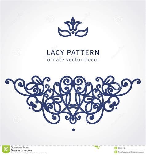 decorative baroque design elements vector vector baroque ornament in east style stock vector