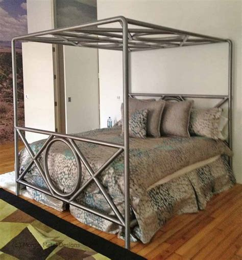 Custom Metal Bed Frames Mb Custom Bed Morgik
