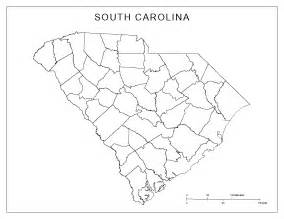 outline map of carolina south carolina blank map