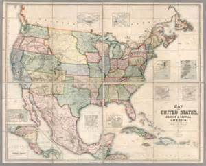 united states and central america map map of the united states central america