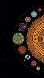 beautiful solar solar system mandalas and iphone wallpapers on