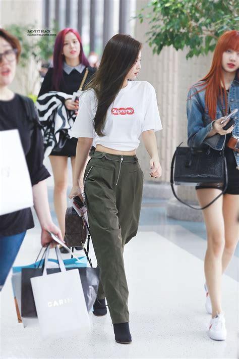 Blackpink Fashion Airport   jennie s fashion sense kpop girl groups pinterest