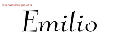 tattoo name emilio emilio archives free name designs