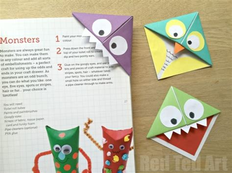 Origami Bookmark - corner bookmarks and owls ted s