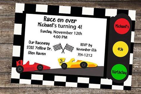 Race Car Birthday Party Invitations Dolanpedia Invitations Ideas Race Car Invitation Templates