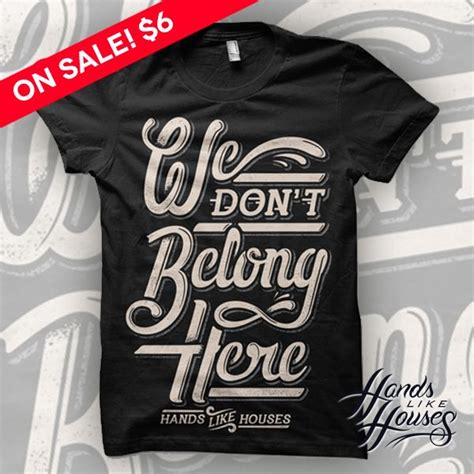 Knkl Tees image of like houses we don t belong merch