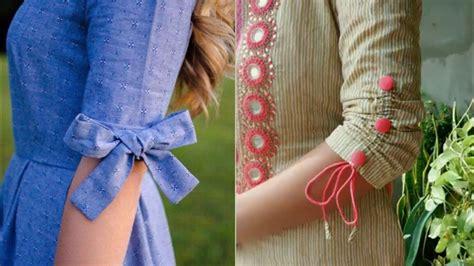cotton kurta sleeves design ideasbeautiful bow sleeves