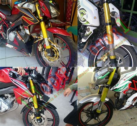 Cover Shock New Vixion Warna Gold Model Usd 1 cover shock model upsidedown vixion new new vixion advance