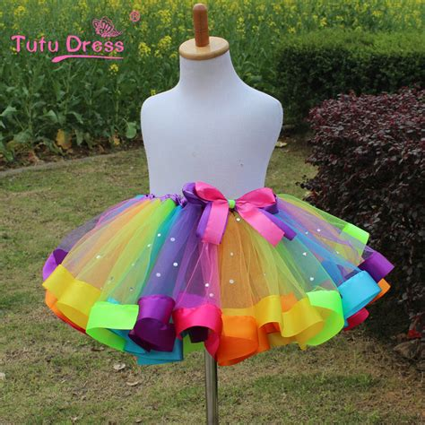 Dress Rainbow 1 1pc new 2016 dress baby dress tutu dress