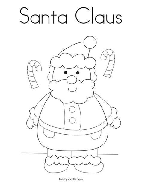 santa claus coloring page pdf santa claus coloring page twisty noodle