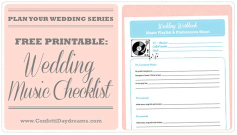 Wedding Song List Printable by Wedding Planning Archives Confetti Daydreams Wedding