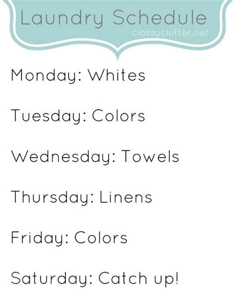 25 Best Ideas About Laundry Schedule On Pinterest Apartment Cleaning Schedule Laundry Care Laundry Schedule Template