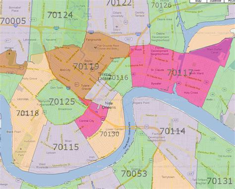 zip code map new orleans foto server by carnaval com maps new orleans zip code map