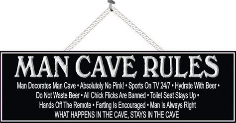 man cave rules sign funny signs fun sign factory